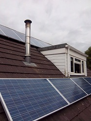 Up Solar 240Wp panels, solar PV installation in 2 strings, Bingley, West Yorkshire
