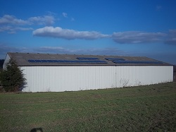 10kWp solar PV on a Yorkshire farm