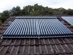 solar water heating 30 evacuated tube panel, Adel, Leeds
