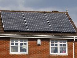 17 x Sanyo 240 Wp N series solar pv panels, 4 kWp array, Armley
