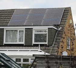 8 x Sanyo HIT N Series 235Wp panels, landscape, 1.9kWp solar PV array, Horsforth, Leeds