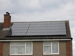 9 x Sanyo 235 panels, 2.1 kWp array, Horsforth, Leeds