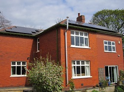 15 x Sanyo 250 Wp H series solar pv panels, 3.75 kWp array, Wakefield
