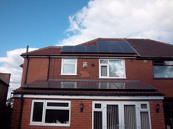 16 x Sanyo 250 Wp H series solar pv panels, 4 kWp array, Cross Gates