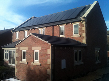 a recent new build solar pv installation
